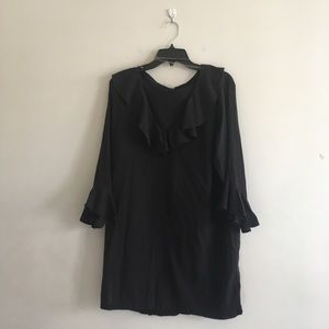 Lauren Ralph Lauren Black Shift Ruffle Dress